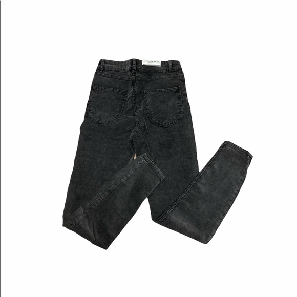 NWT ZARA The High Waist Skinny Jeans Corduroy Gray